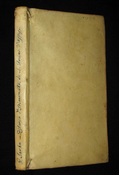 1680 Scarce Italian Vellum Jesuit Book - Panegyric on the Stigmata of St. Francis of Assisi
