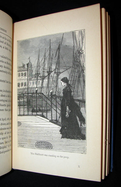1895 Rare Edition of Jules Verne 's Book - A Floating City and the Blockade Runners
