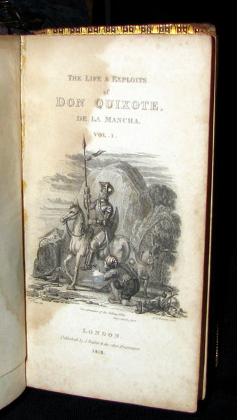 1818 Rare Book set ~ The History and Adventures of the Renowned Don Quixote (2 vols in slipcase)