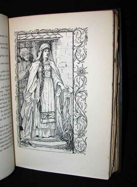 1896 Rare 1stED Book - Fairy Tales of the Slav Peasants & Herdsmen illustrated by E. Harding