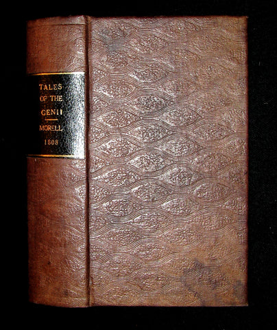 1808 Rare Book - The Tales of the Genii or the Delightful Lessons of Horam, The Son of Asmar