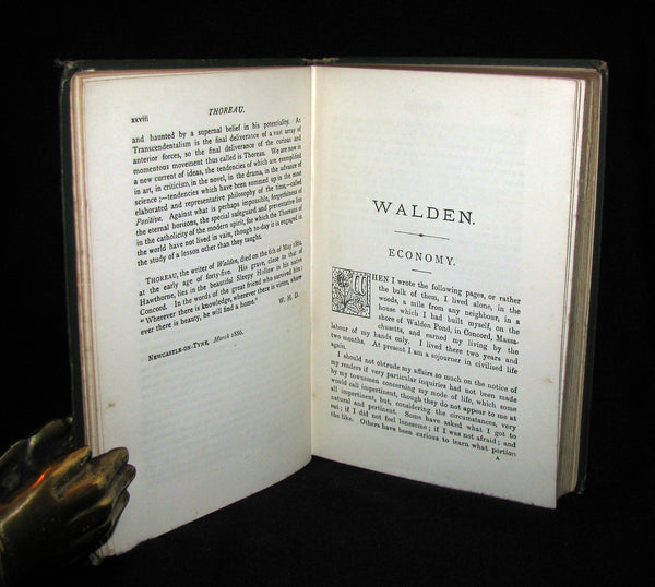 1886 Rare Victorian Book - WALDEN or, Life in the Woods by Henry David Thoreau