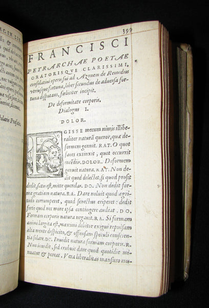1557 Scarce Book - Petrarch's Remedies for Fortune Fair and Foul (De remediis utriusque fortunae)