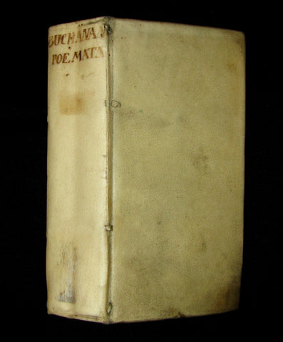 1687 Rare Book - GEORGII BUCHANANI SCOTI POEMATA   Scottish Poems by Buchanan