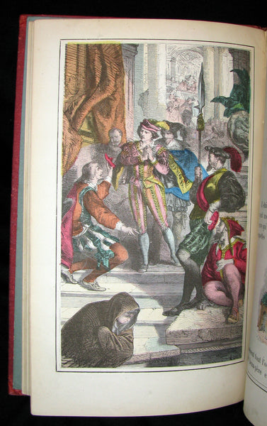 1890 Scarce COLOR illustrated French Book ~ Les Contes des Fées by Perrault - Fairy Tales