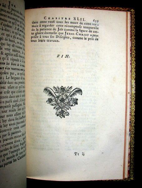 1688 Rare Latin French Book Bible - JOB par  Isaac-Louis Le Maistre de Sacy