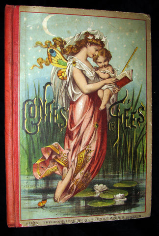 1890 Rare color illustrated French Book ~ Contes de Fees Fairy Tales Perrault