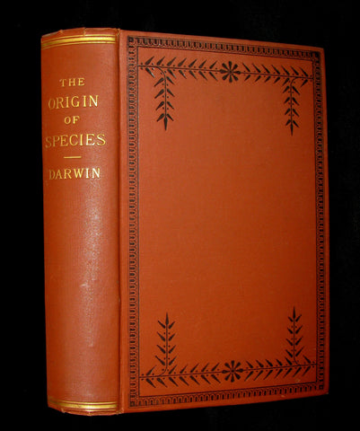 1895 Rare Book - CHARLES DARWIN The ORIGIN OF SPECIES - Natural Selection. (2 Volumes in 1).