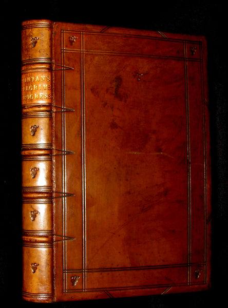 1849 Rare Victorian Book - The Pilgrim's Progress by John Bunyan. Hayday Binding.
