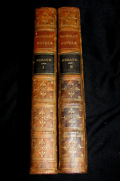 1858 Rare Book set  -  The Pirate (The Waverley Novels Household Edition - complete in 2 volumes)  by Walter Scott