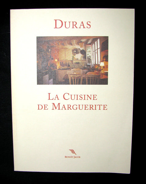 1999 Rare French Book - Marguerite DURAS - La Cuisine de Marguerite - banned from sale in France
