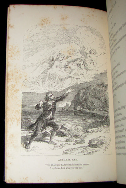 1860's Rare Book - The Poetical Works of Edgar Allan Poe. Edited by James Hannay. Illustrated.