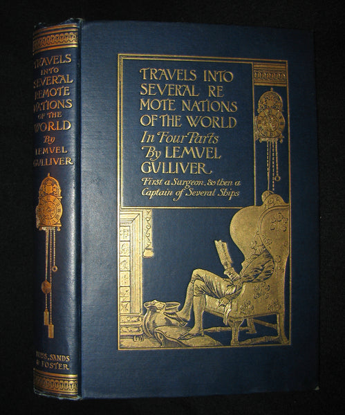 1896 Rare Victorian Book - Gulliver's Travels - Travels Into Several Remote Nations of the World in Four Parts By Lemuel Gulliver, First a Surgeon & Then a Captain of Several Ships