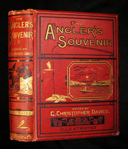 1877 Rare Victorian Book - The Angler's Souvenir. By P. Fisher. Edited by G. Christopher Davies