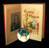 1857 Victorian Book in Scarce Binding - The Pilgrim's Progress by John Bunyan