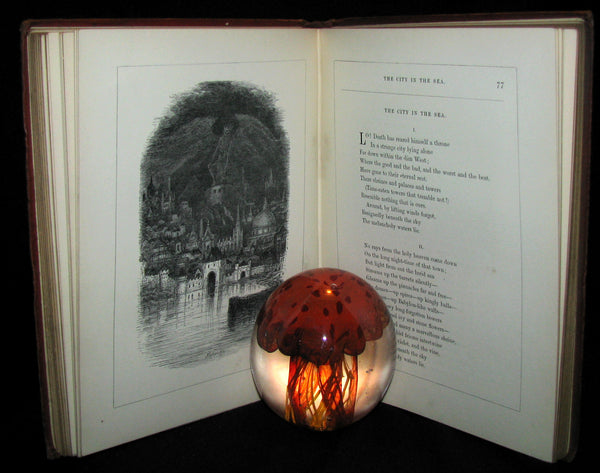 1872 Rare Victorian Book - The Poetical Works of Edgar Allan Poe. Edinburgh Illustrated Edition.
