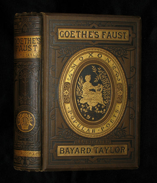 1890 Rare Victorian Book -   Faust - A Tragedy by Goethe, Illustrated.