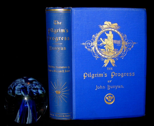 1898 Victorian Rare Book - The Pilgrim's Progress by John Bunyan, Illustrated