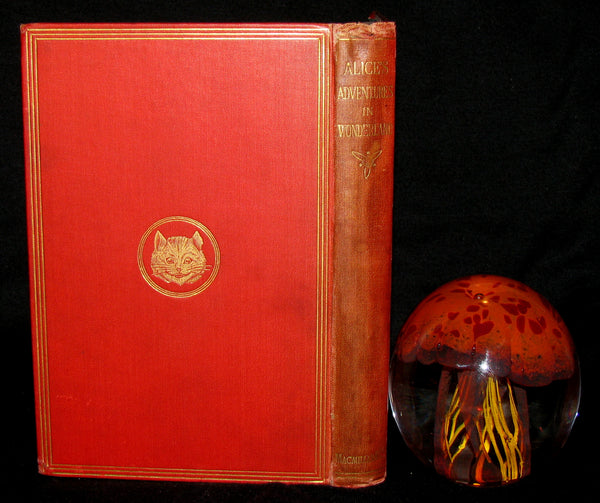 1885 Rare Victorian Book - Alice's Adventures in Wonderland by Lewis Carroll
