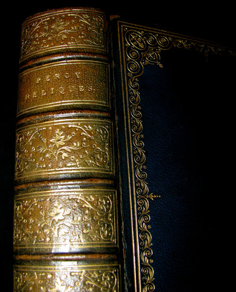 1865 Rare Victorian Book -  Reliques of Ancient English Poetry and Old Heroic Ballads collected  by Thomas Percy