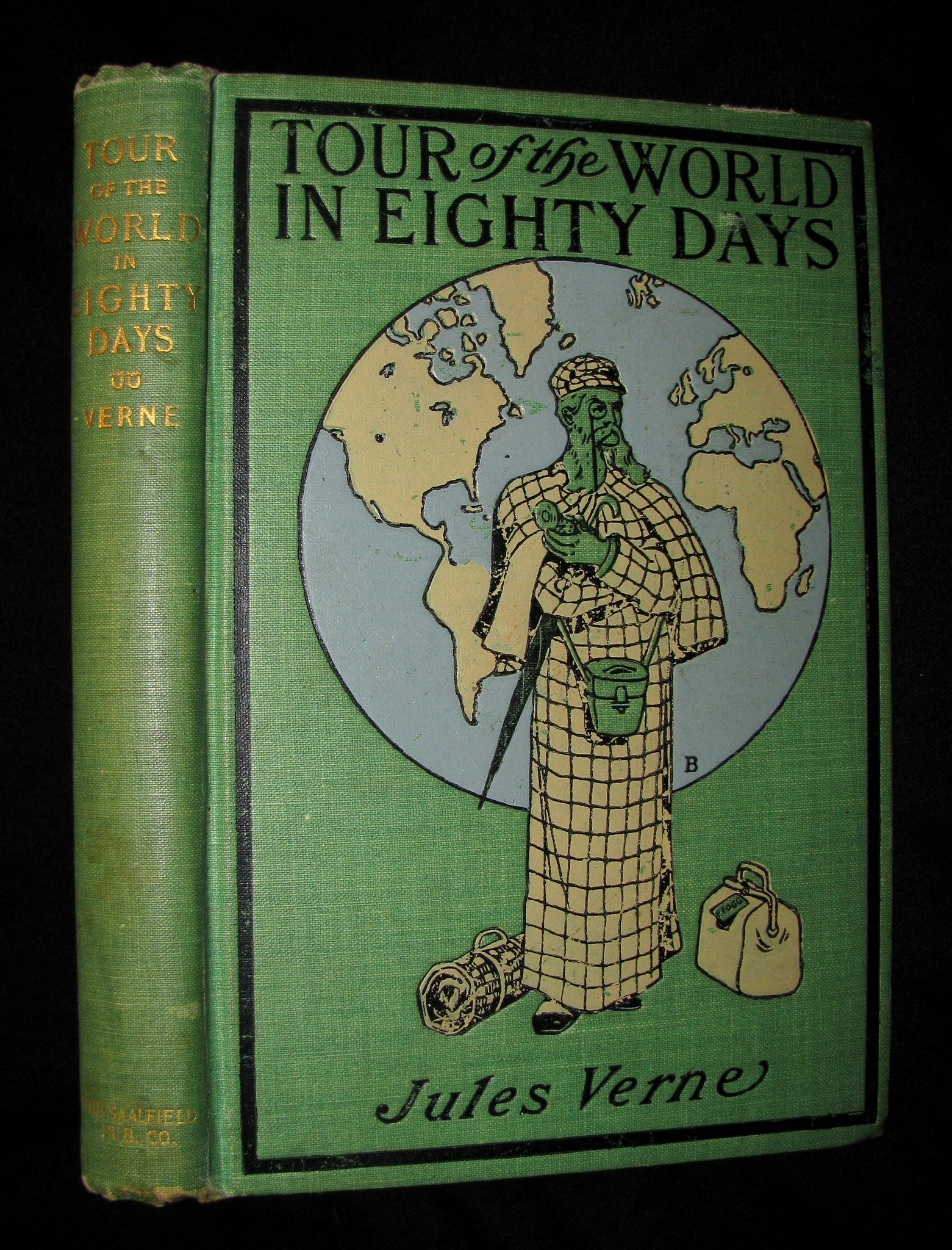 1903 Rare Book - The Tour of the World in Eighty Days by Jules Verne - Rare edition