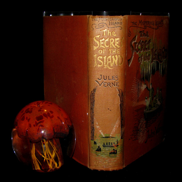 1906 Rare Illustrated Book - The Secret of the Island by Jules Verne