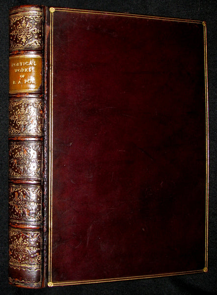 1888 Rare Victorian Book - The Complete Poetical Works and Essays on Poetry of EDGAR ALLAN POE together with his Narrative of Arthur Gordon Pym