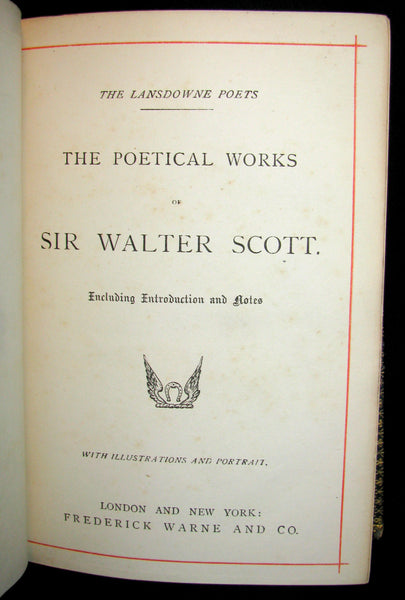 1880's Rare Book ~  The Poetical Works of Sir Walter Scott Illustrated