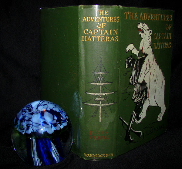 1910 Rare Book - JULES VERNE - The Adventures of Captain Hatteras, Containing 'The English at the North Pole' and 'The Ice Desert'