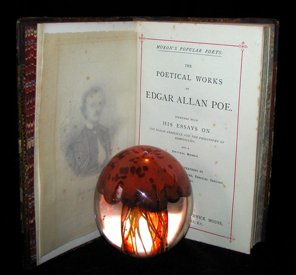 1880 Rare Book - The Poetical Works of Edgar Allan Poe together with his essays