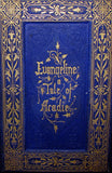 1860 Rare Victorian Book -  Evangeline  A tale of Acadie by Henry Wadsworth Longfellow. Illustrated.