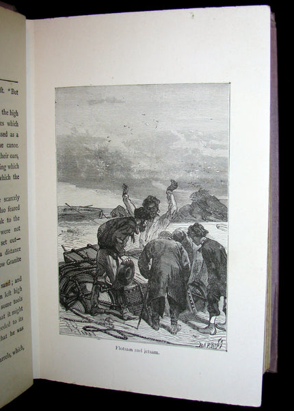 1912 Rare Illustrated Book - Abandoned being the second part of The Mysterious Island by Jules Verne