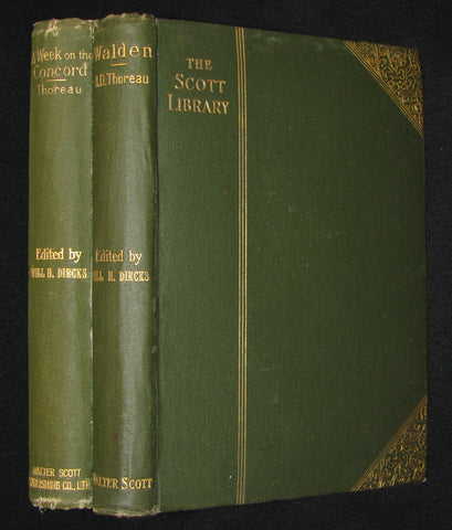 1886 - 1889 Rare Books - WALDEN and A Week on the Concord and Merrimac Rivers by Henry David Thoreau