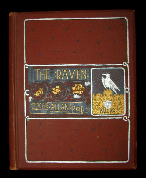 1886 Scarce Victorian Book - The RAVEN by Edgar Allan POE (Illustrated by W. L. Taylor)