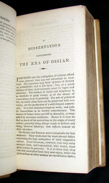 1812 Rare Book - The POEMS of OSSIAN by James Macpherson