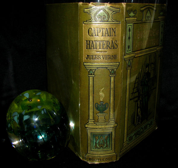 1890 Rare Book - Captain Hatteras - by Jules Verne