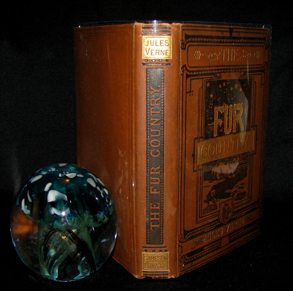 1886 Rare Victorian Book - JULES VERNE FUR COUNTRY or Seventy Degrees North Latitude