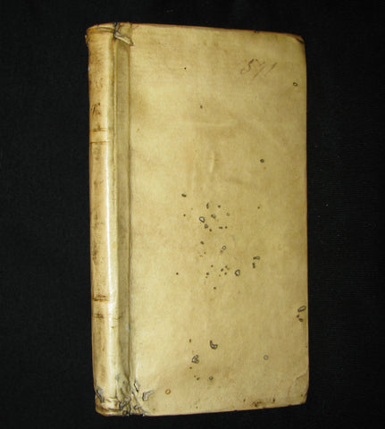 1647 Rare Latin Vellum Book -  The Satires of Decimus Junius Juvenalis, and of Aulus Persius Flaccus