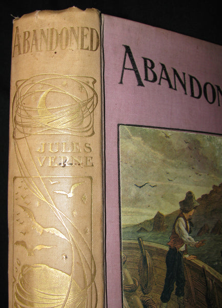 1910 Rare Illustrated Book - Abandoned being the second part of The Mysterious Island by Jules Verne