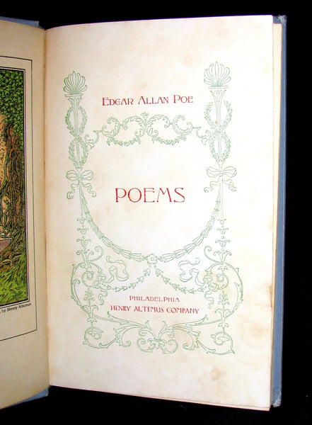 1899 Rare Victorian Book - Poems by Edgar Allan POE (Altemus Edition)