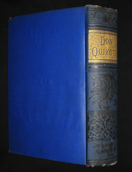 1880 Rare Victorian Book ~ Adventures of Don Quixote De La Mancha Illustrated