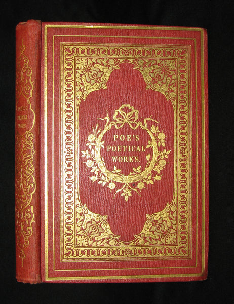 1859 Rare Book - The Poetical Works of EDGAR ALLAN POE with A Notice of his Life and Genius, by James Hannay. Illustrated.