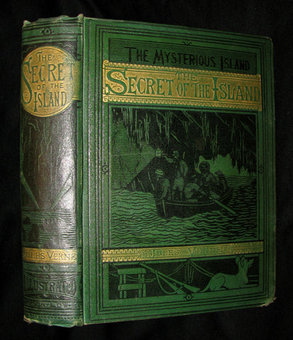 1876 Rare Second Edition - The Secret of the Island by Jules Verne. Illustrated.