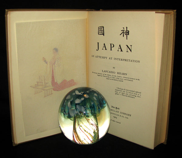 1904 Rare First Edition  - JAPAN: An Attempt at Interpretation by Lafcadio Hearn