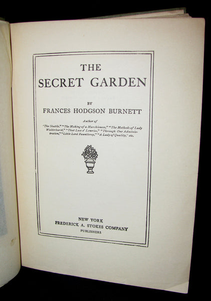 1911 Rare Book Early Edition - The Secret Garden by Frances Hodgson Burnett