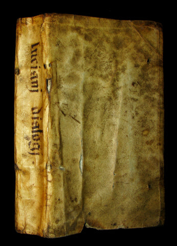 1614 & 1621 Rare vellum Latin and Greek Book - Lucian of Samosata - Dialogorvm Selectorvm Book I & 2