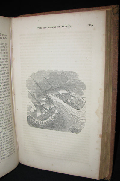 1851 Rare Book - Exquemelin -The History Of The Buccaneers Of America