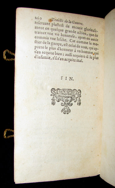 1641 Rare vellum French Book - Art of War - Le Parfait capitaine.