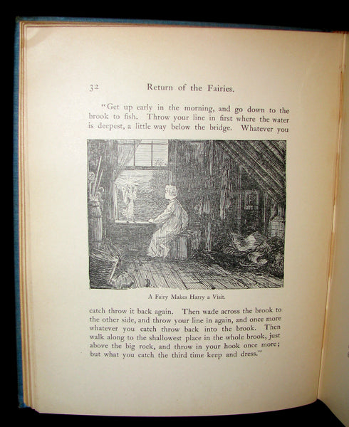 1890 Rare 1stED Signed Book ~ Return of the Fairies by Charles J. Bellamy