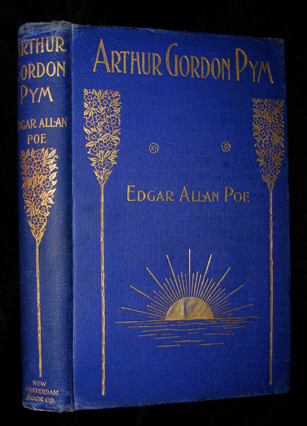 1889 Rare Victorian Book - Arthur Gordon Pym by Edgar Allan Poe : A Romance Illustrated